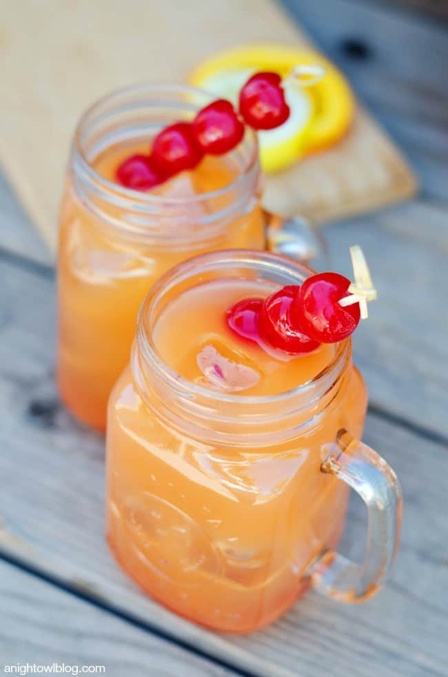 Coconut-rum-punch. A party isn't a party without some crowd pleasing cocktails. Save your sanity at your next party by having a few of these make-ahead big batch cocktails mixed and ready to serve. Click here to check out these delicious big batch cocktail recipes now.