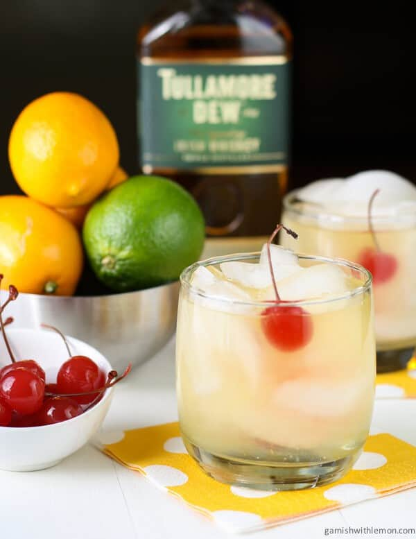 Meyer-lemon-whiskey-sours. A party isn't a party without some crowd pleasing cocktails. Save your sanity at your next party by having a few of these make-ahead big batch cocktails mixed and ready to serve. Click here to check out these delicious big batch cocktail recipes now.