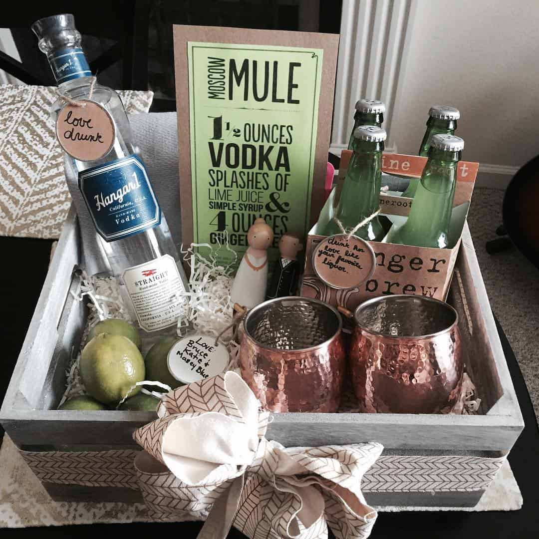 The best diy gift baskets to make for every occasion ideal me moscow mule gift basket solutioingenieria Choice Image