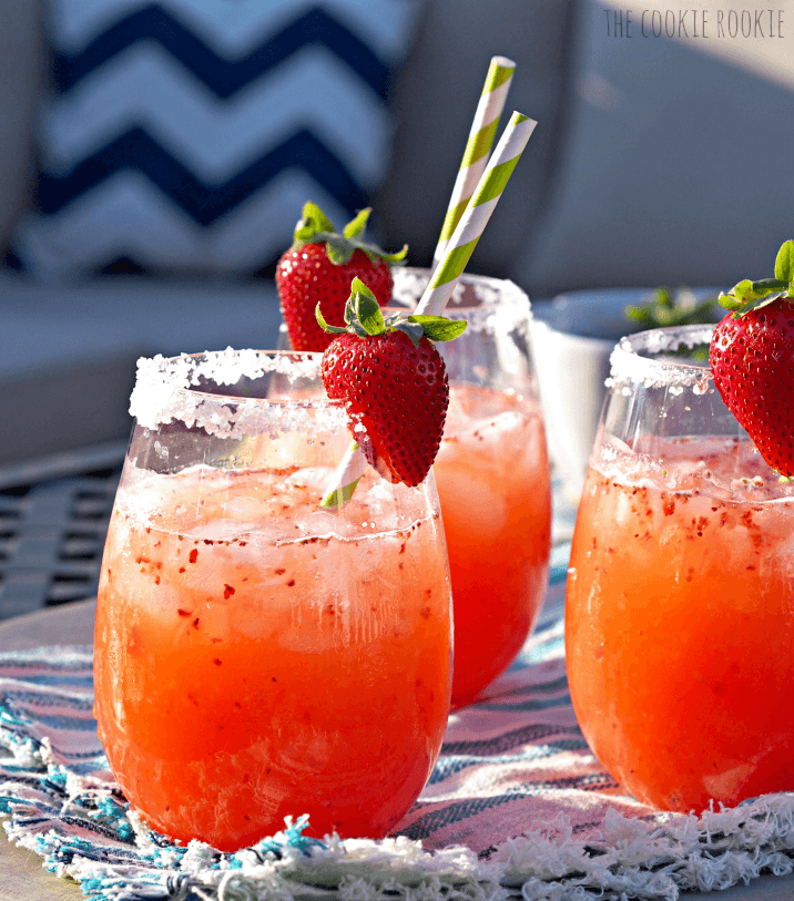 Strawberry-margarita-punch. A party isn't a party without some crowd pleasing cocktails. Save your sanity at your next party by having a few of these make-ahead big batch cocktails mixed and ready to serve. Click here to check out these delicious big batch cocktail recipes now.