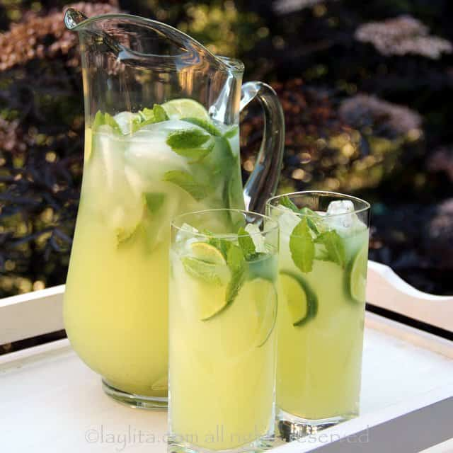 vodka-mint-lemonade-or-limeade. A party isn't a party without some crowd pleasing cocktails. Save your sanity at your next party by having a few of these make-ahead big batch cocktails mixed and ready to serve. Click here to check out these delicious big batch cocktail recipes now.