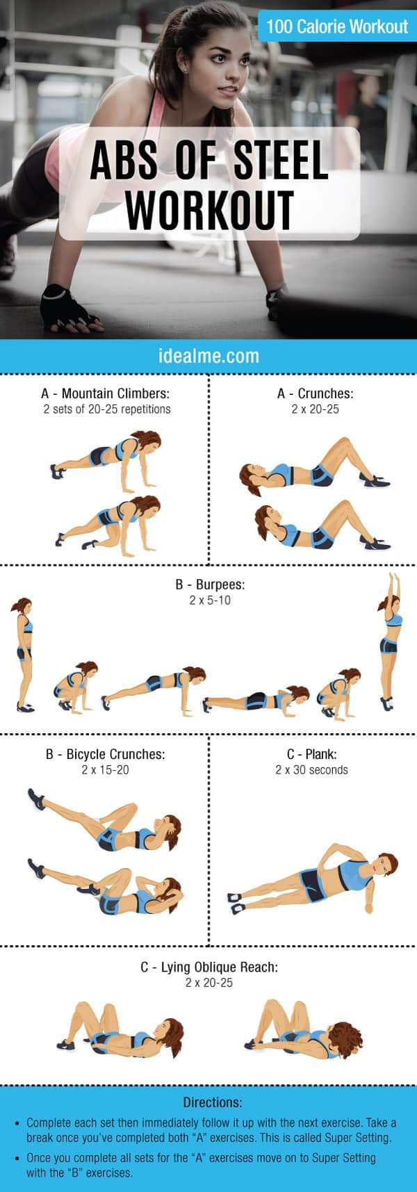 Abs Of Steel 100 Calorie Workout