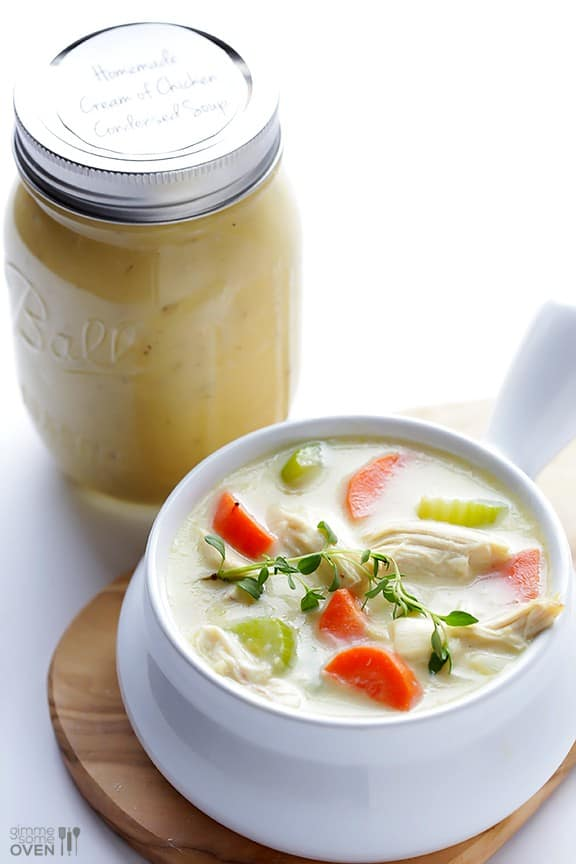 Cream of Chicken Soup - Canning homemade soups can help you save money, gain control over what's in your food, and save you time when you need a quick meal. Make your own canned soup with one of these delicious twelve recipes today.