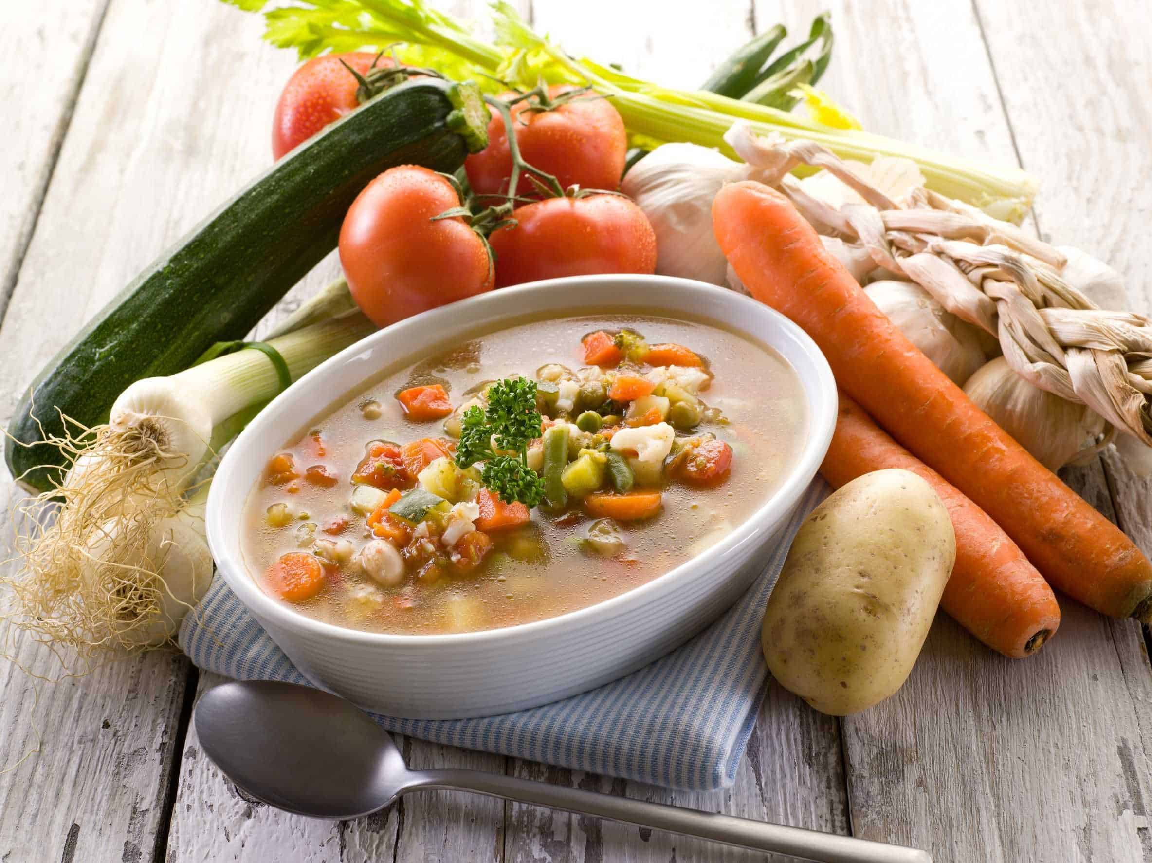 Vegetable Soup - Canning homemade soups can help you save money, gain control over what's in your food, and save you time when you need a quick meal. Make your own canned soup with one of these delicious twelve recipes today.