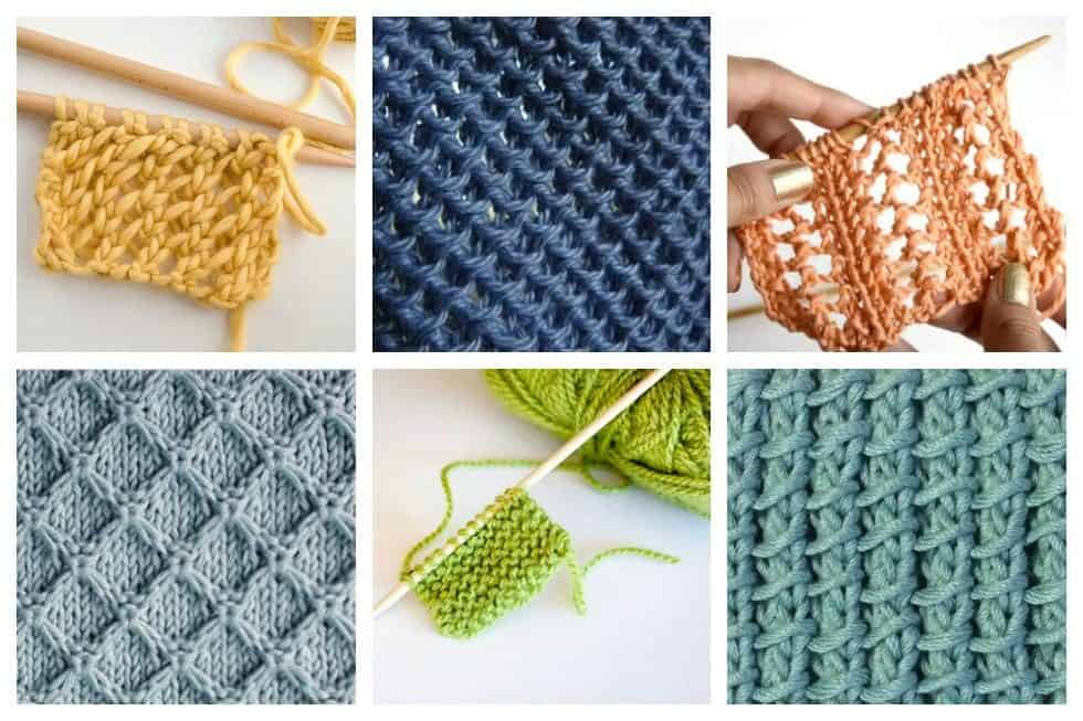Simple Knitting Stitches : 18 Easy Knitting Stitches You Can Use for Any Project - Ideal Me