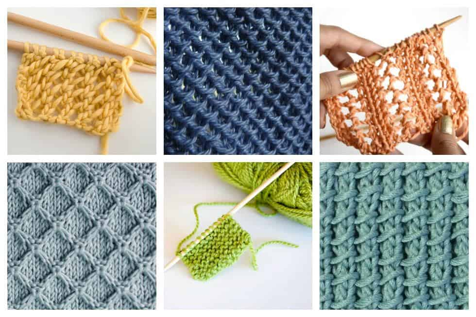 Knitting Stitches Patterns Easy : 18 Easy Knitting Stitches You Can Use for Any Project - Ideal Me