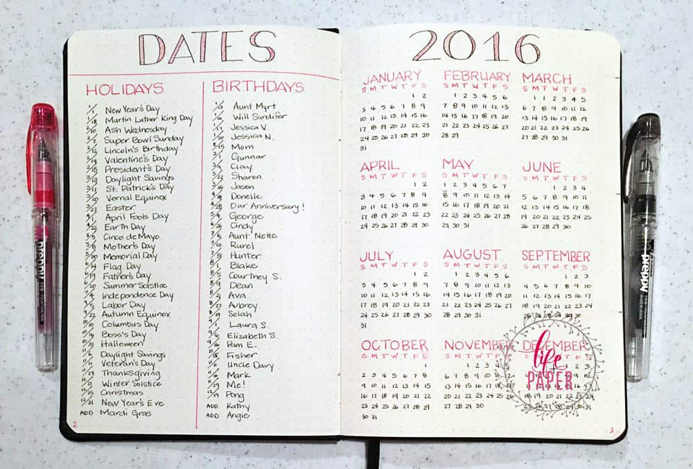 Calendar Wheel Bullet Journal : Amazing bullet journal tips for beginners ideal me