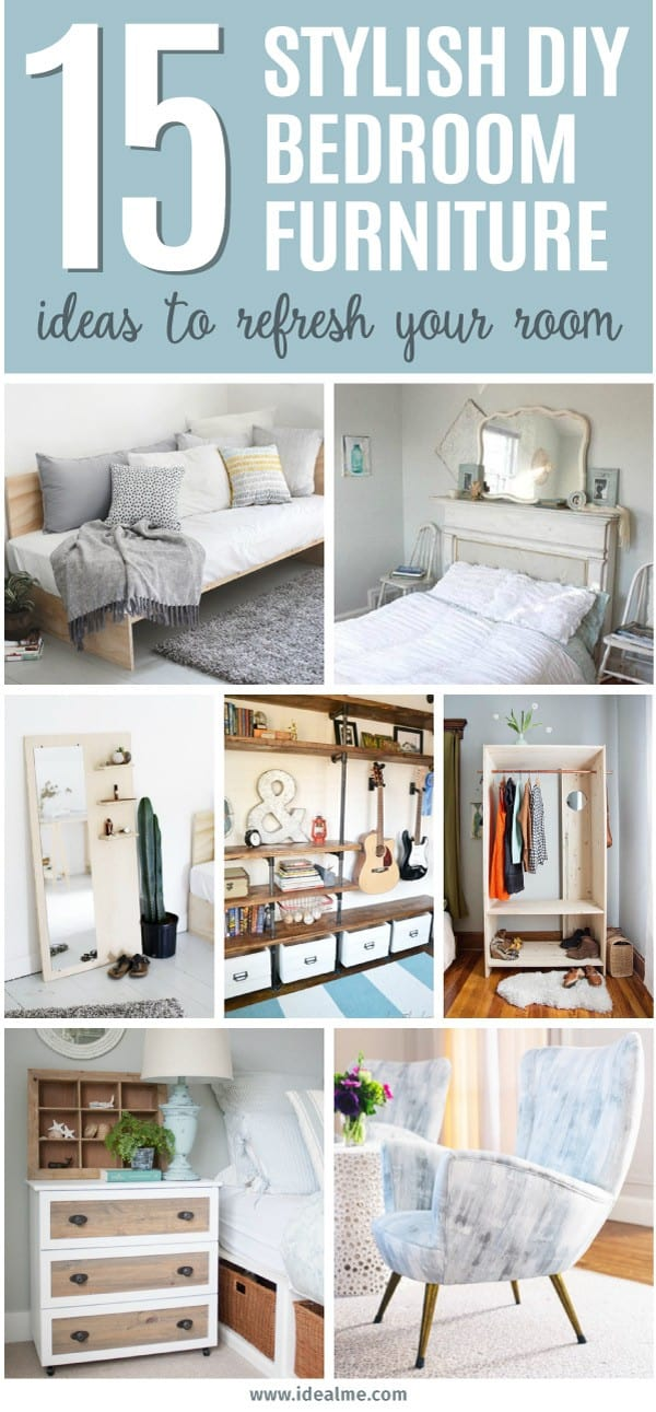 15 stylish diy bedroom furniture ideas to update and for Diy for your bedroom