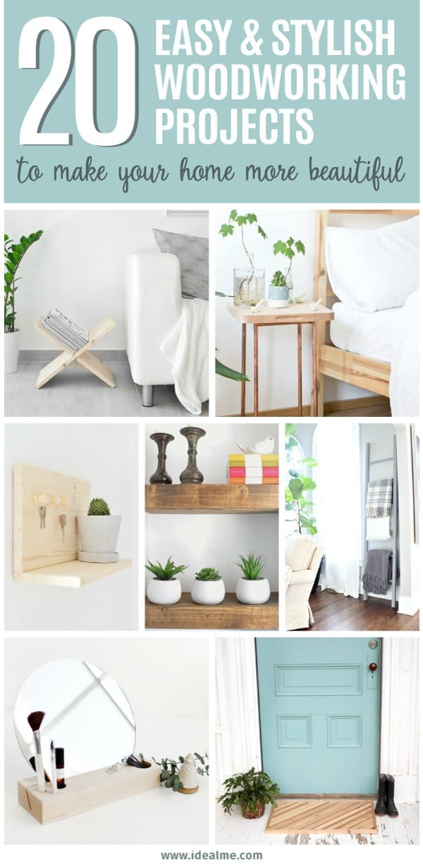 20 easy woodworking projects to make your home more beautiful. Most of these projects include plans and materials and tools lists, so you have everything you need to get started. Now the toughest decision you need to make is which great project are you going to try first.