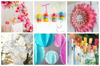 Below you'll find some of our favorite DIY decoration you'll want to make for your next big event. These gorgeous and crafty projects are relatively easy to make, and perfect for anniversaries, birthday parties, wedding showers, graduations and every other party that you could imagine.