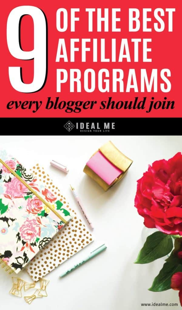 How do you choose which affiliate programs are right for your business? Check out 9 of the best affiliate programs every blogger should join.