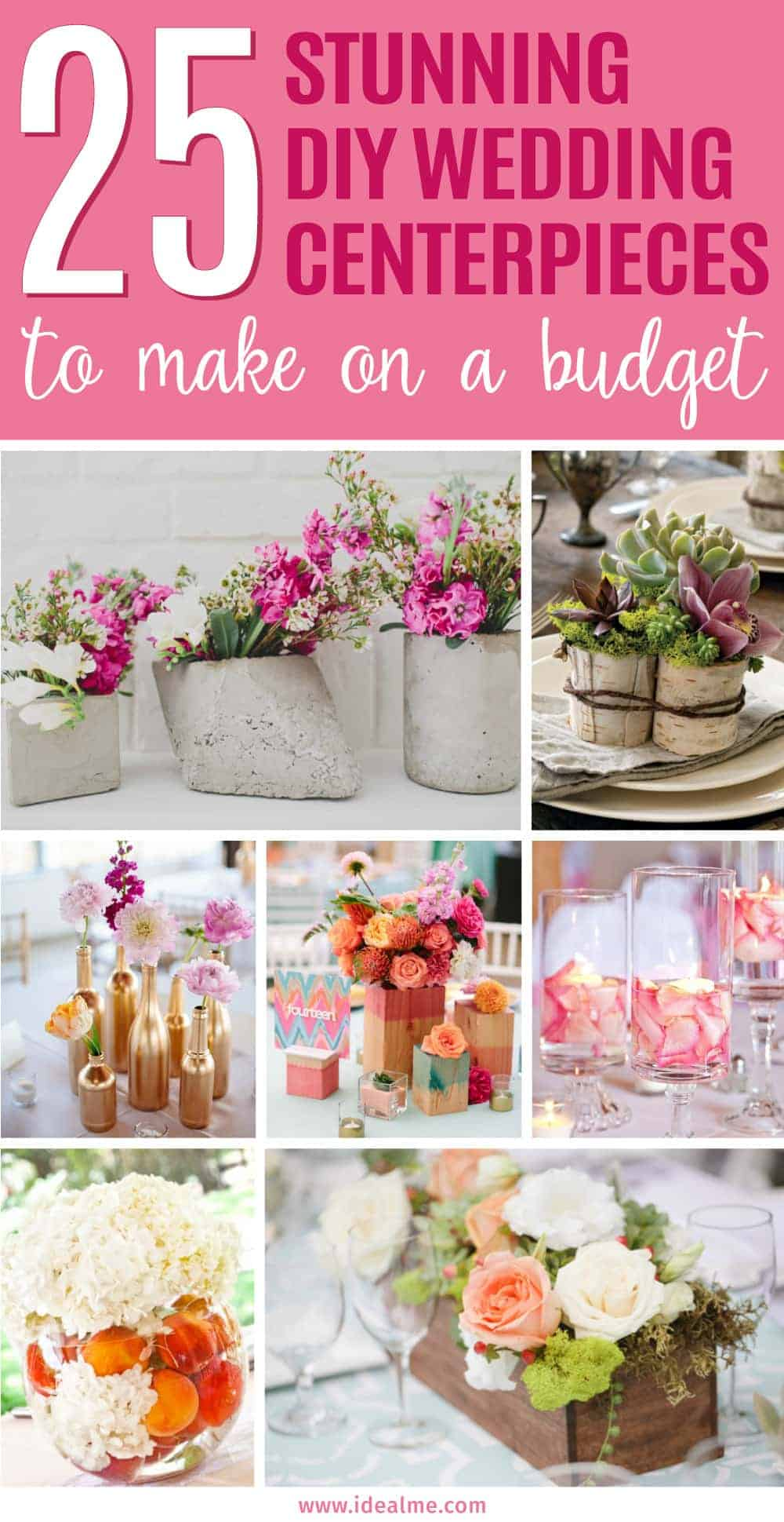 Believe it or not, you can create stunning centerpieces without spending much at all. We've found some beautiful DIY wedding centerpiece ideas that looking anything but cheap.