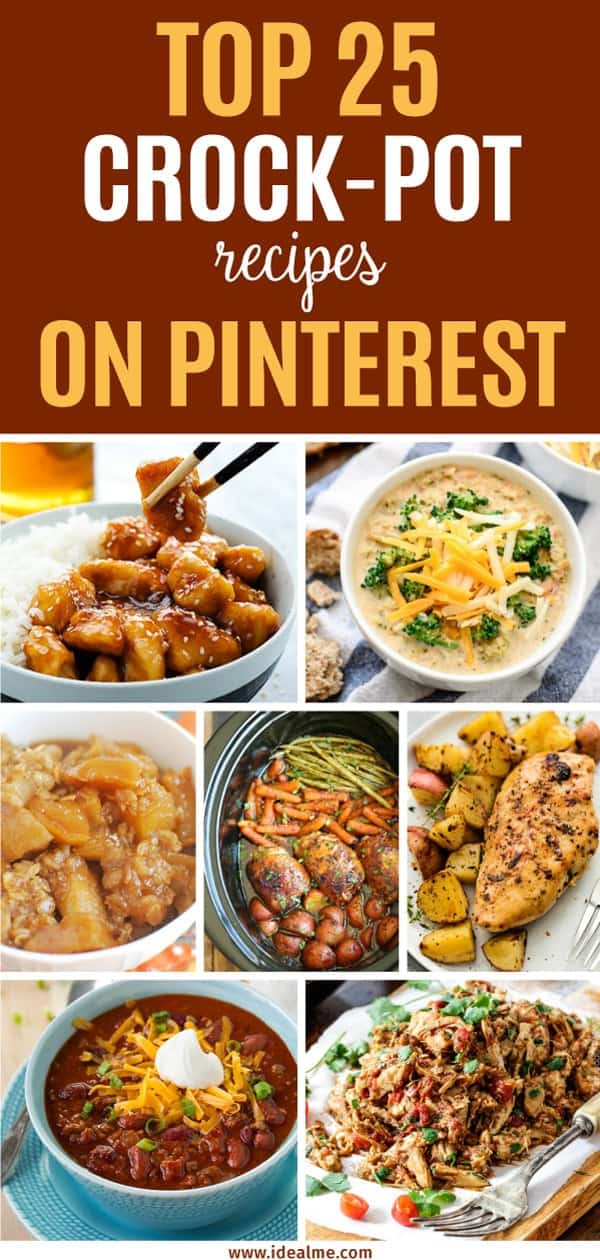 If you're looking for some great, tried and true recipes to add to your weekly dinner repertoire, check out these top 25 crock-pot recipes that we've found on Pinterest. These low stress meals will have you cooking up a storm in no time.