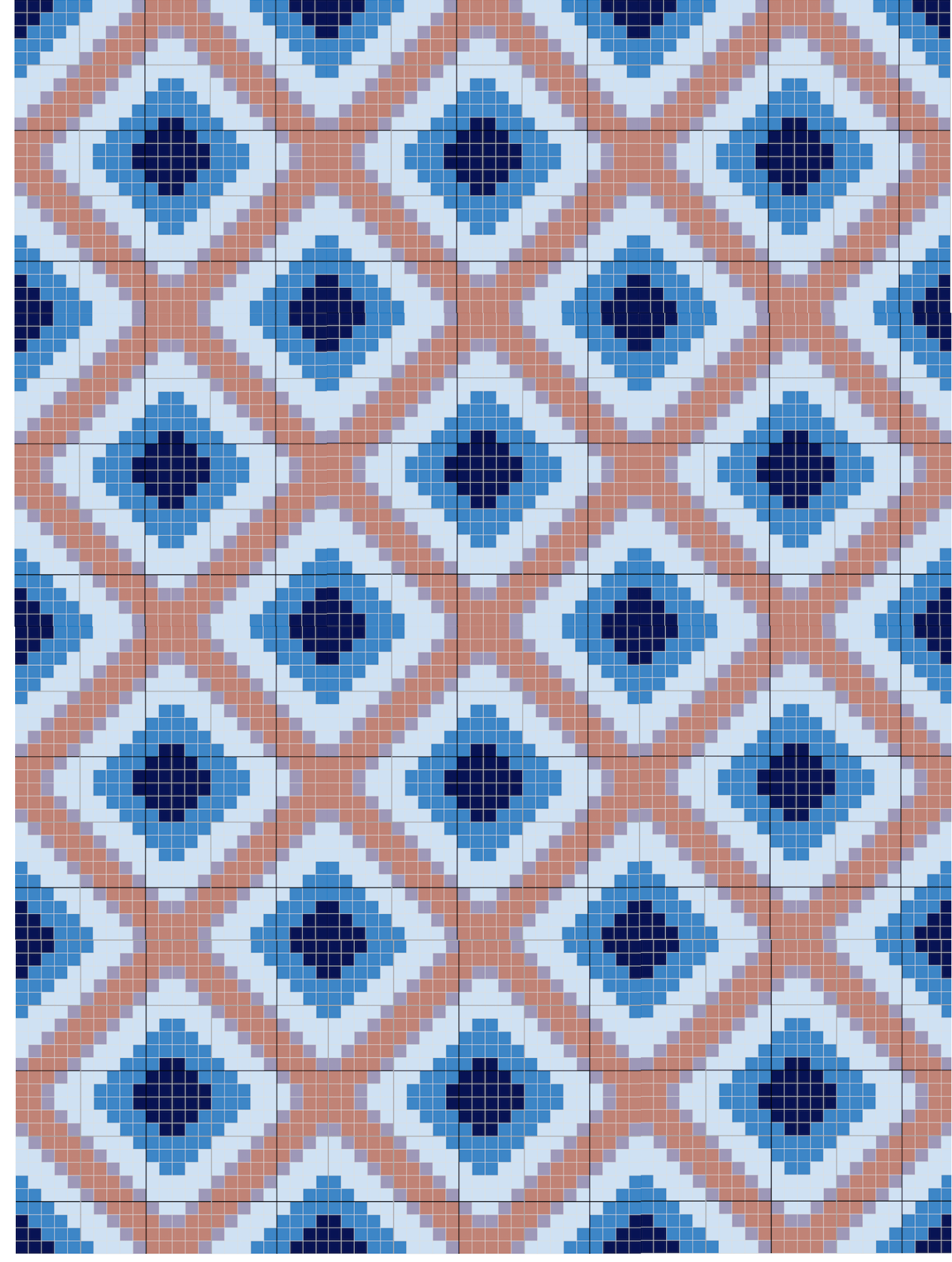 c2c crochet graphgan blanket pattern