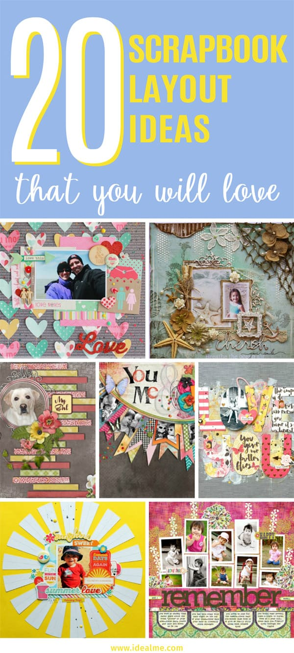 20 Scrapbook Layout Ideas
