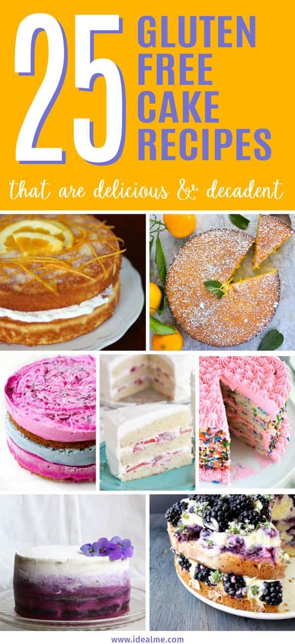 25 Delicious & Decadent Gluten Free Cake Recipes