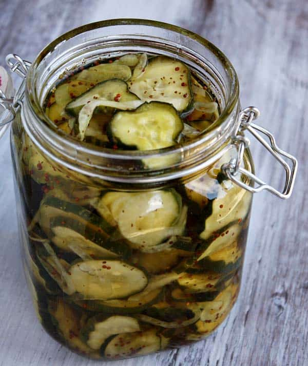 Bread and Butter pickles - recipe canning vegetables