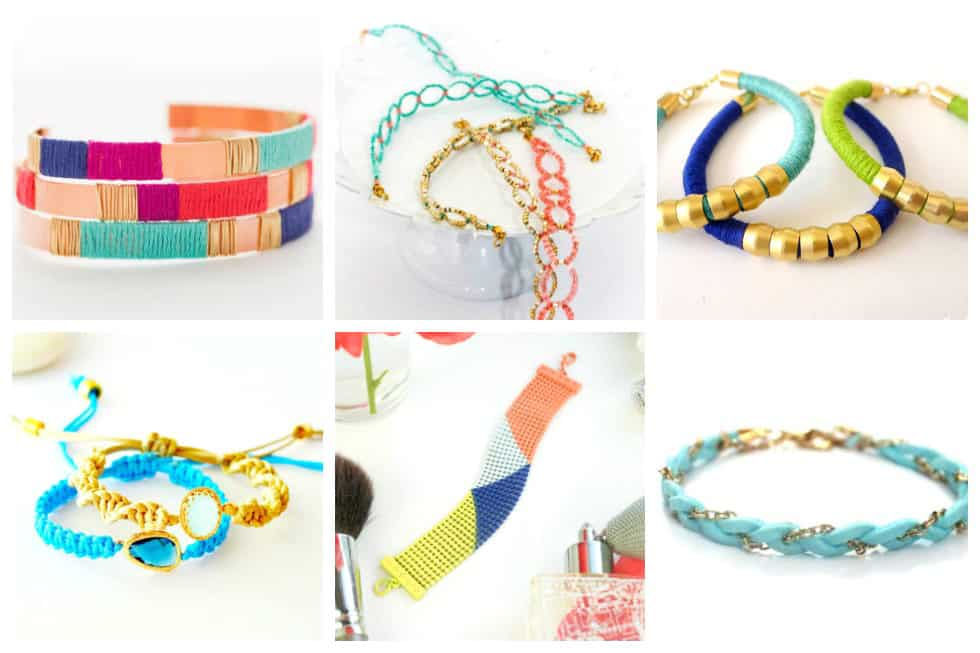 Why spend a fortune on bracelets when you can whip up something gorgeous in less than an hour. Learn how to make these18 DIY bracelets right now.