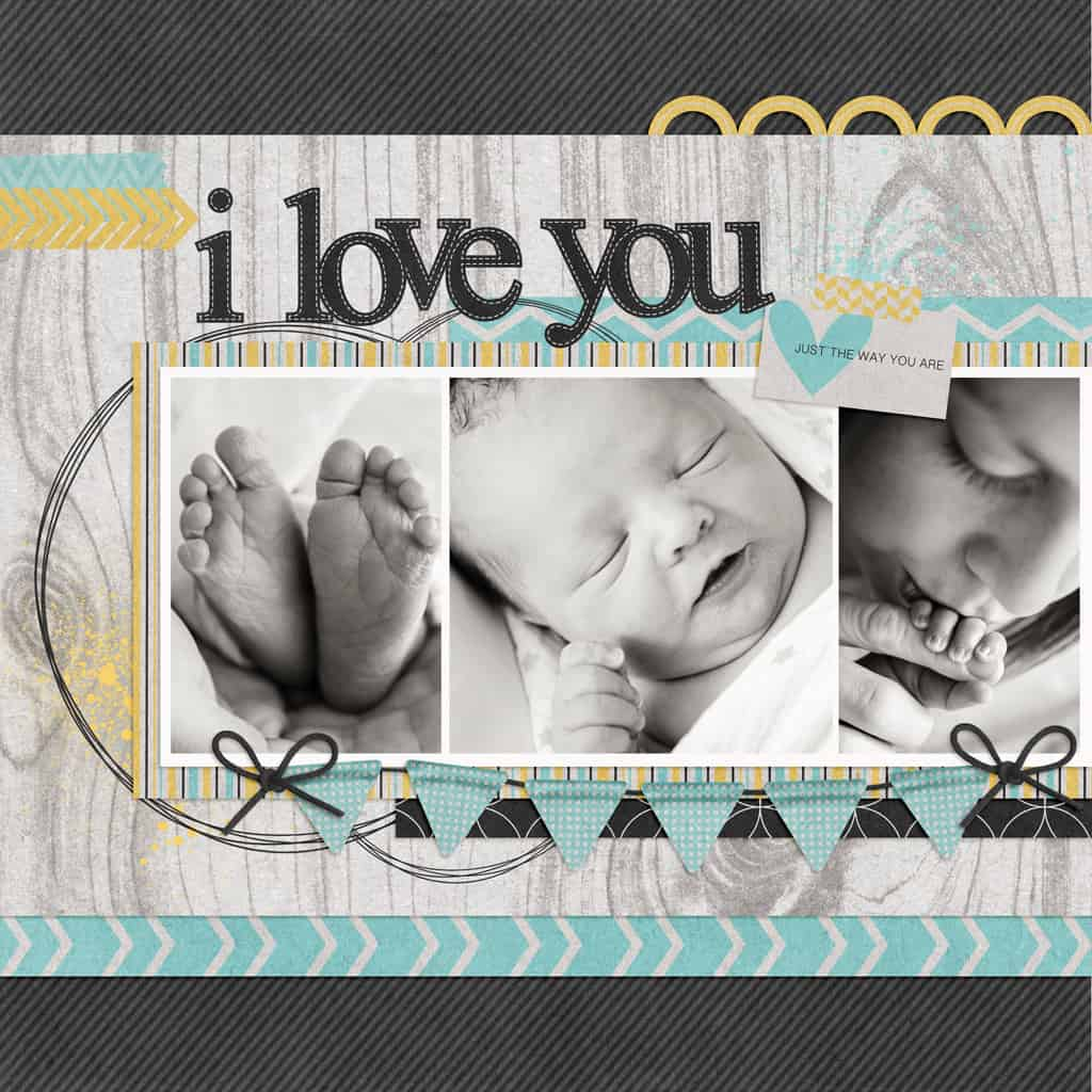 I love you just the way you are - modern country - scrapbook layout ideas