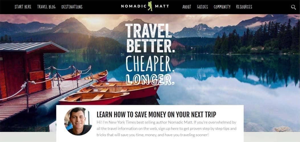 Nomadic Matt travel blog