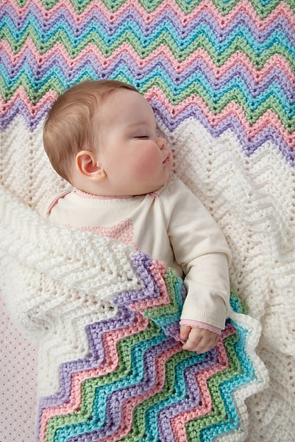 17 Easy Ripple Crochet Blankets To Make To Brighten Any