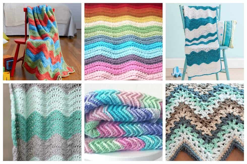 17 Easy Ripple Crochet Blankets To Make To Brighten Any Room Ideal Me
