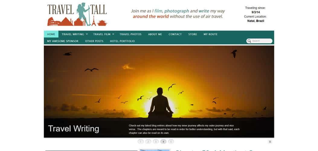 Travel Tall travel blog