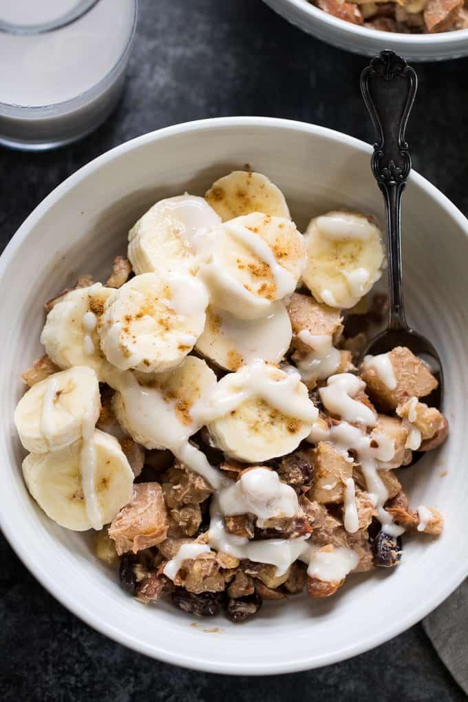 apple cinnamon hot cereal - whole 30 snacks