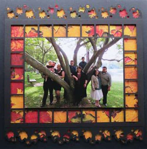 autumn page pop - scrapbook layout ideas