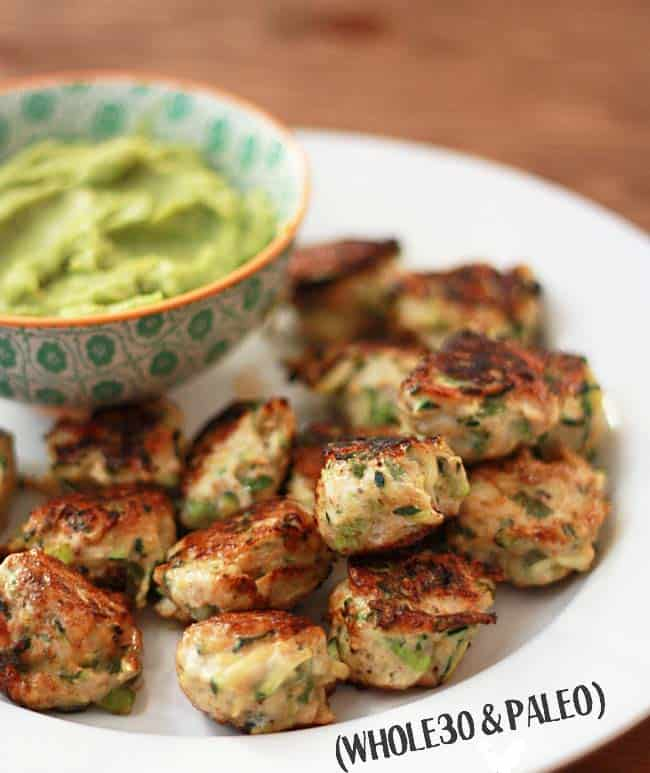 chicken and zucchini poppers - whole 30 snacks