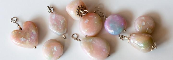 clay polymer faux opal Jewelry