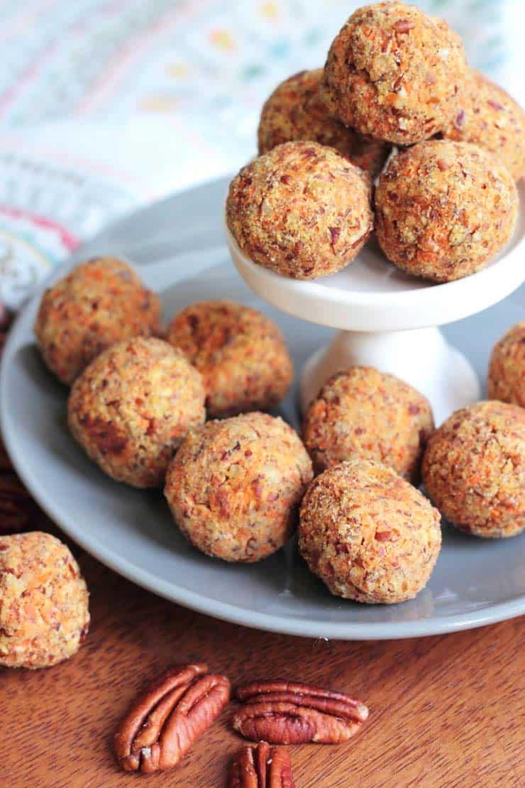 easy paleo dessert carrot cake energy balls