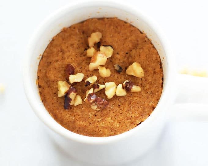 easy paleo dessert pumpkin mug cake