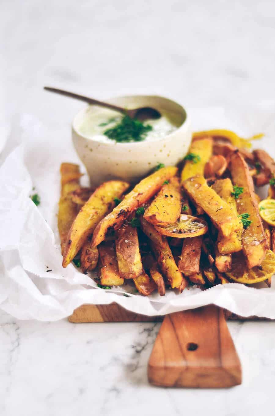 extra crispy garlic lime sweet potato - whole 30 snacks