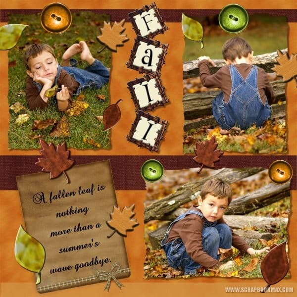fall page - scrapbook layout ideas