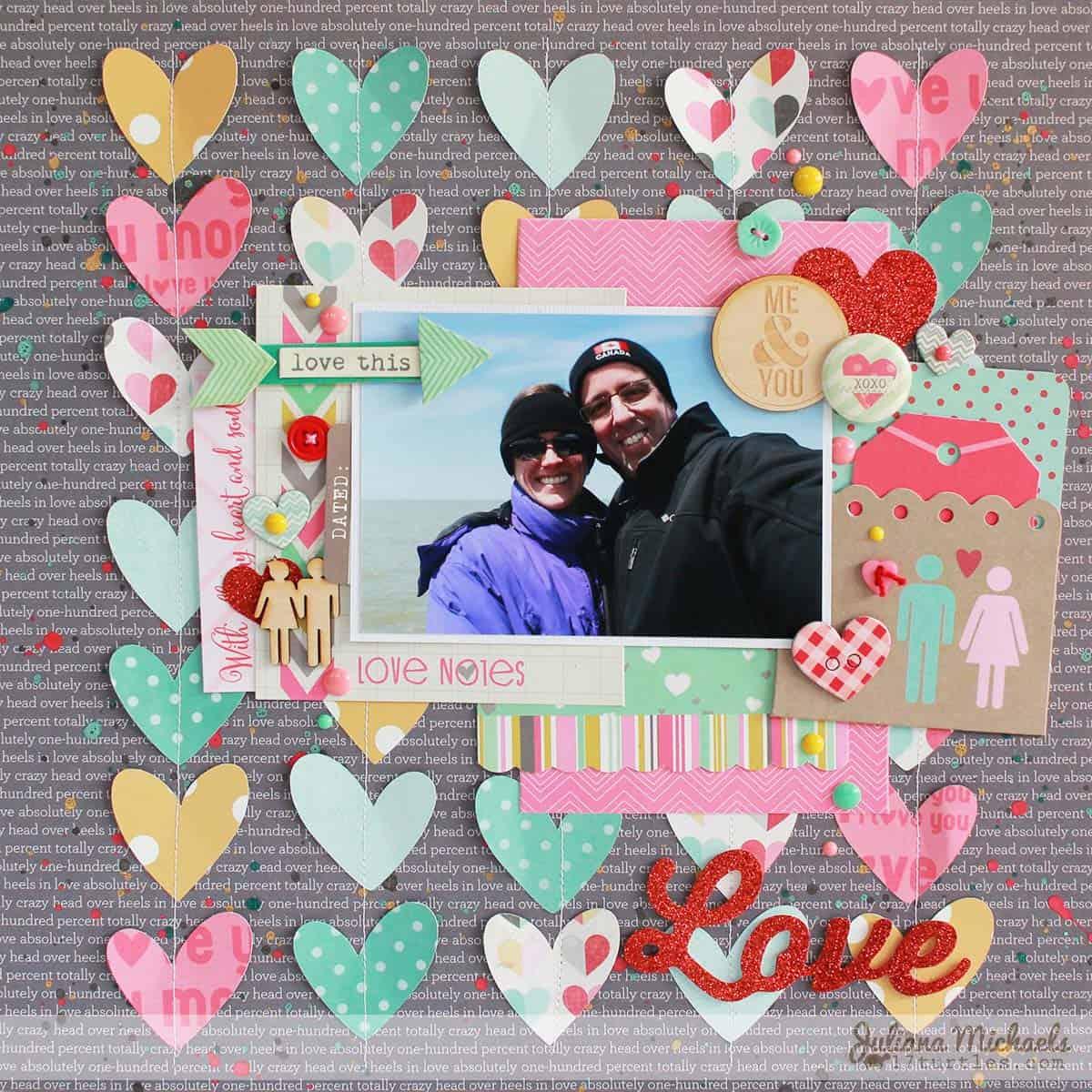 love valentines - scrapbook layout ideas