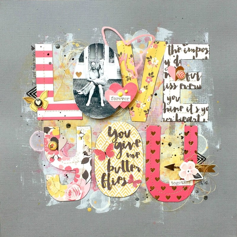 love you - scrapbook layout ideas