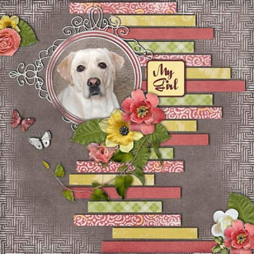 paper strips - scrapbook layout ideas