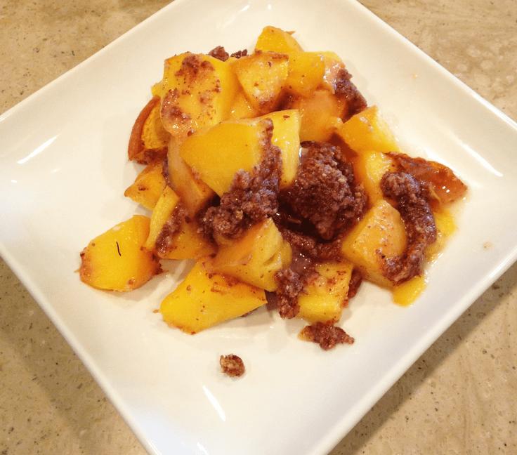 peach cobbler - whole 30 snacks