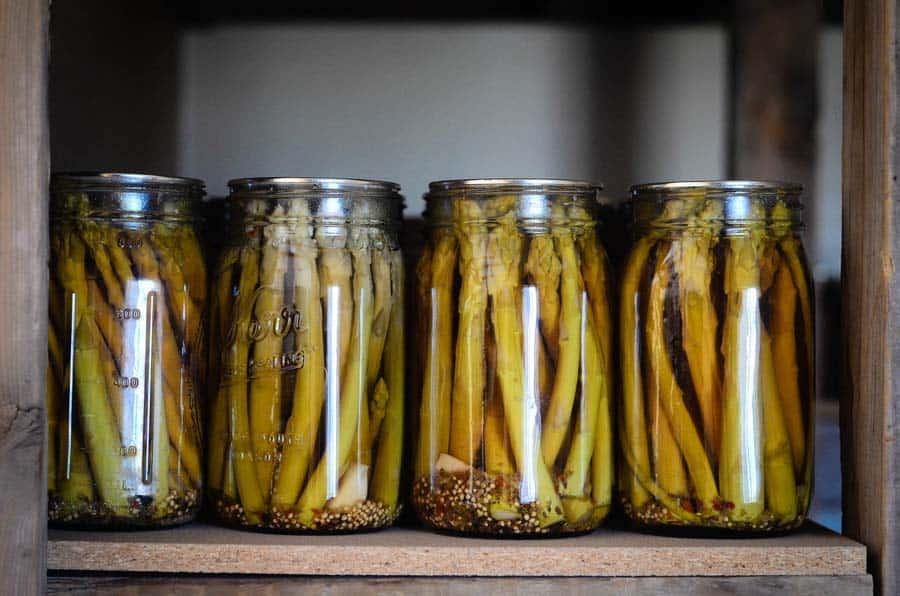 pickled asparagus - recipe canning vegetables