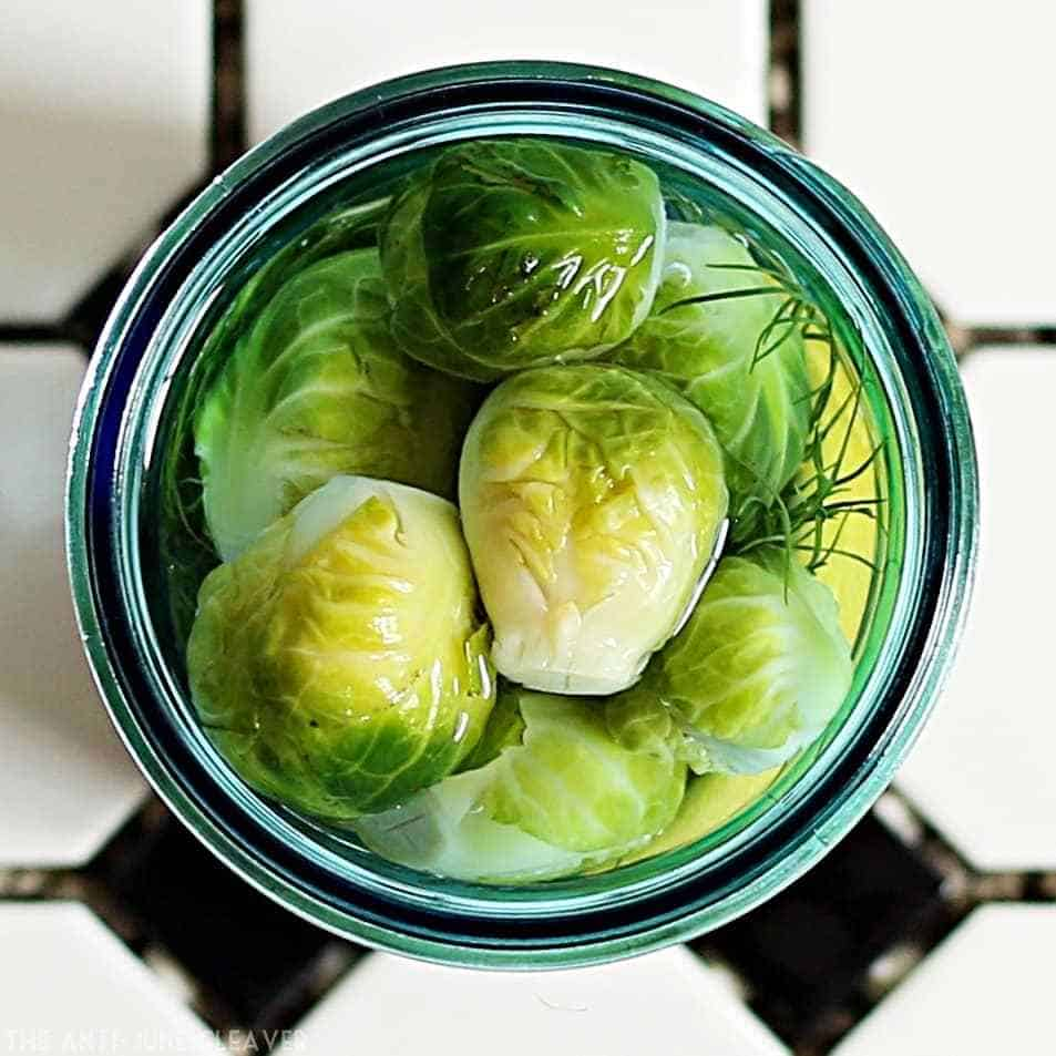 pickled brussel sprouts - recipe canning vegetables