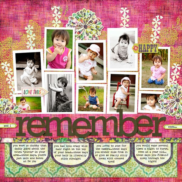 remember when - scrapbook layout ideas