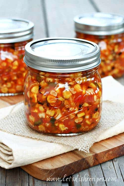 roasted corn salsa - recipe canning vegetables