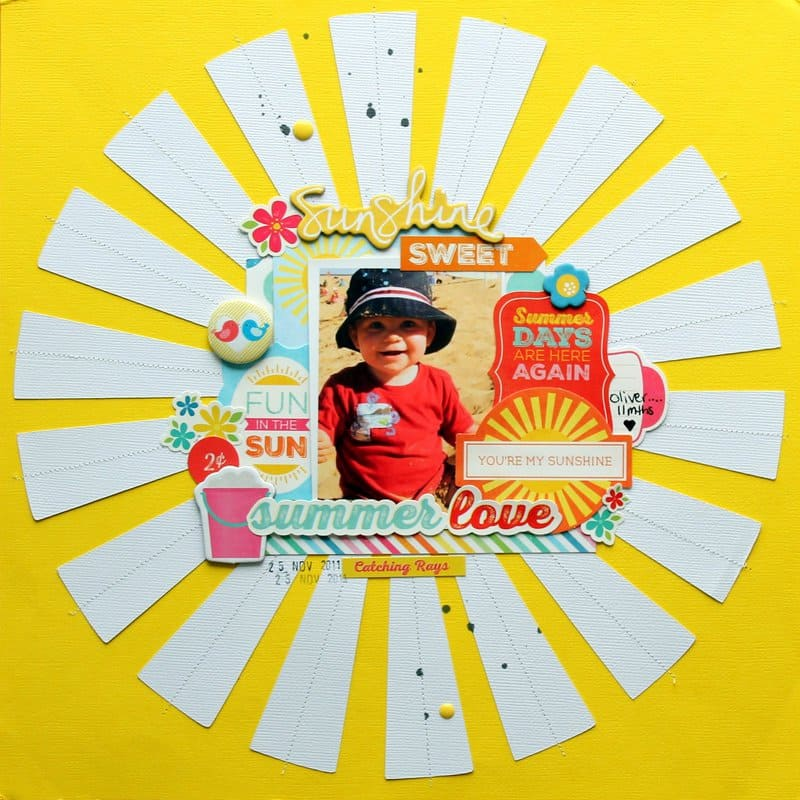 summer sunshine - scrapbook layout ideas