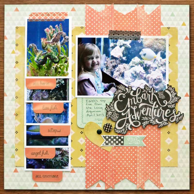 tab punch flip book - scrapbook layout ideas