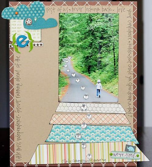 walking ahead - scrapbook layout ideas