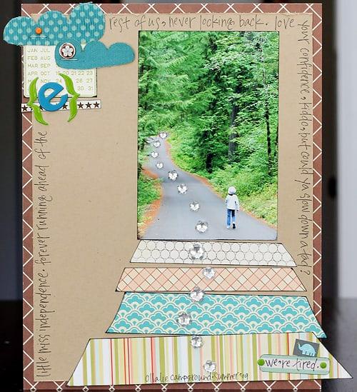 walking ahead - scrapbook layout ideas