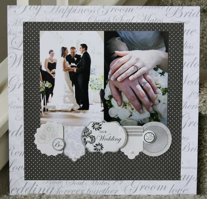wedding chic - scrapbook layout ideas