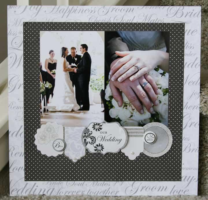 wedding chic - scrapbook layout ideas