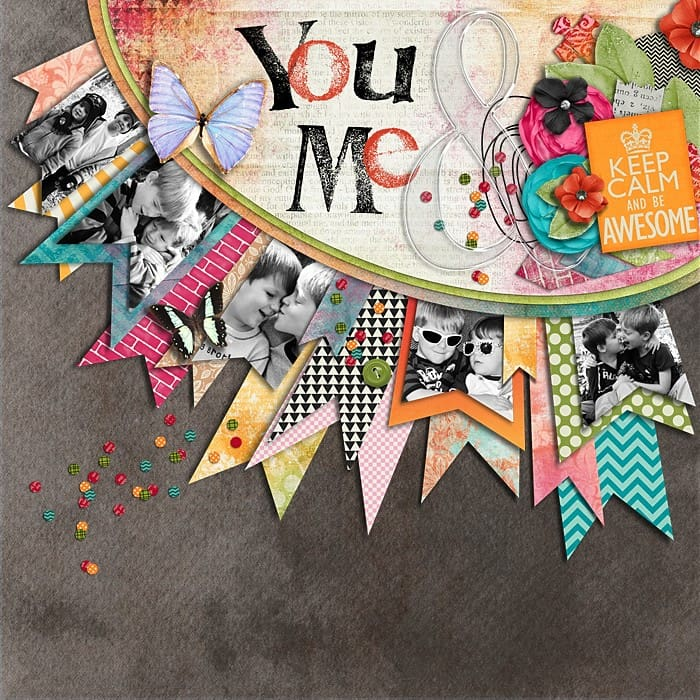 you + me - scrapbook layout ideas